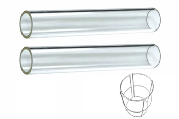Pyramid Heater Quartz Glass Tube Replacement 2 Piece